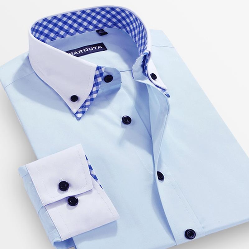 Mode limitée New complet Sarouya 2015 hommes printemps causalité vêtements homme Businese Shirt à manches longues coréenne robe Slim commerciale(China (Mainland))