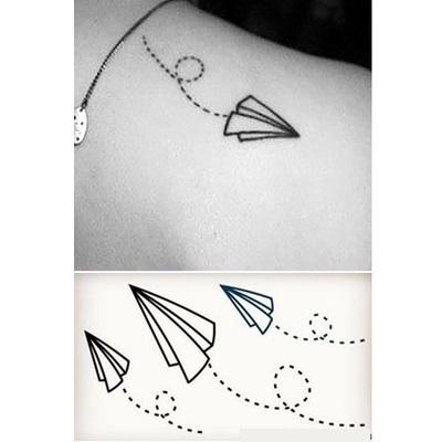 HC079 Paper Airplane Flight Temporary Tattoo Stickers Temporary Body Art Waterproof Tattoo Sticker(China (Mainland))