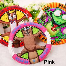 Popular Pet Toys Fat Cats Cartoon Frisbee Molar Tooth Cleaning Dog Toys Cat Toys, Pet Supplies UFO Toys 3 Color(China (Mainland))