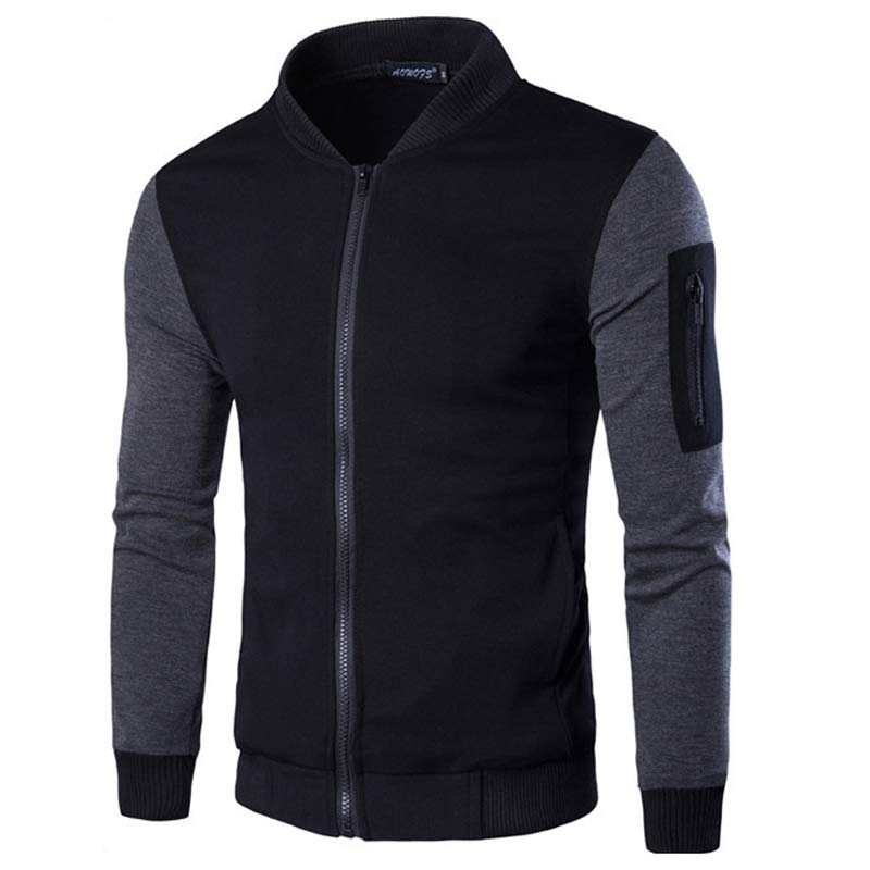 new bomber jacket men veste blouson homme 2016 mens fashion patchwork sleeve zipper baseball. Black Bedroom Furniture Sets. Home Design Ideas