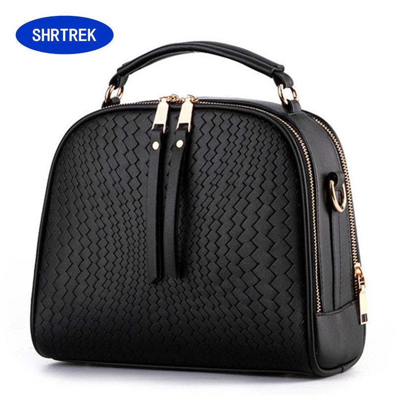 2016 Spring Women Bags Weave Tassel Women PU Leather Handbags Women Shoulder Bag Ladies Casual Women Messenger Bags New WB026(China (Mainland))