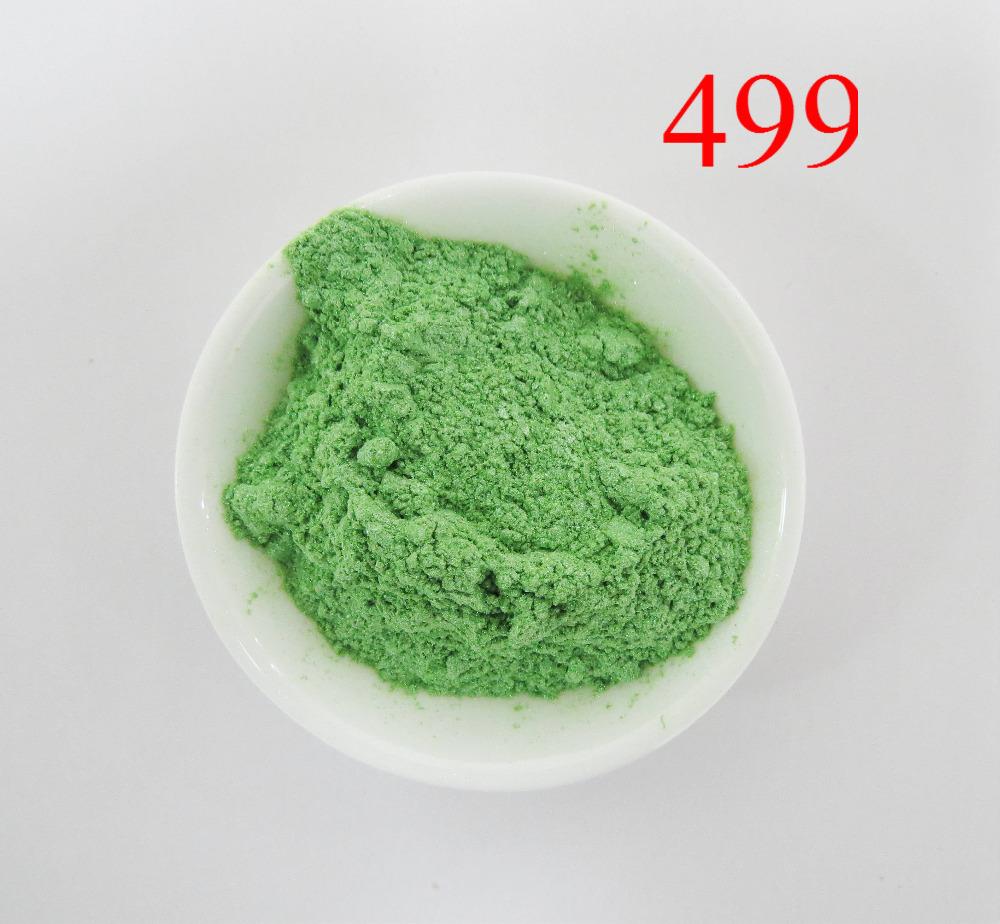 sell shimmer pearl pigment, green mica powder,pearlescent pigment powder,1lot=100gram 499 shimmer green,free shipping(China (Mainland))