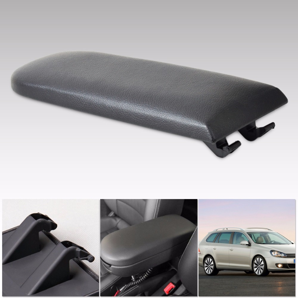 New Replacement Black Leather Armrest Cover Lid For 1997-2011 Octavia VW 1999-2010 New Beetle 1999-2005 Bora/ Golf 4/ Passat B5(China (Mainland))