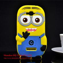 Alcatel One Touch Pop C7 OT 7040 7040D case 3D cute cartoon Soft Rubber silicon Despicable Yellow Minion Cell Phone Case - Shenzhen HQ Trade CO.,LTD store