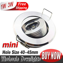 2014 home store decor hot products 4pcs/lot  mini Led spot light Downlights cabinet lights 1W 3W Hole size 40-45mm 110-270LM(China (Mainland))