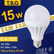 LED Lamp LED E27 E14 Bulb Led Bulb Light 3W 5W 7W 9W 12W 15W,220V 110V Wholesale Cold Warm White Led Spotlight Lamps FreeShip
