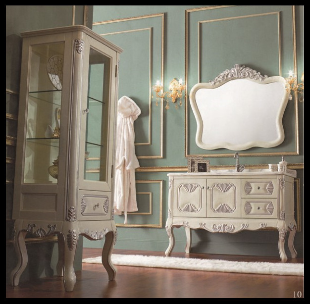 wholesale solid wood european design french style bathroom furniture