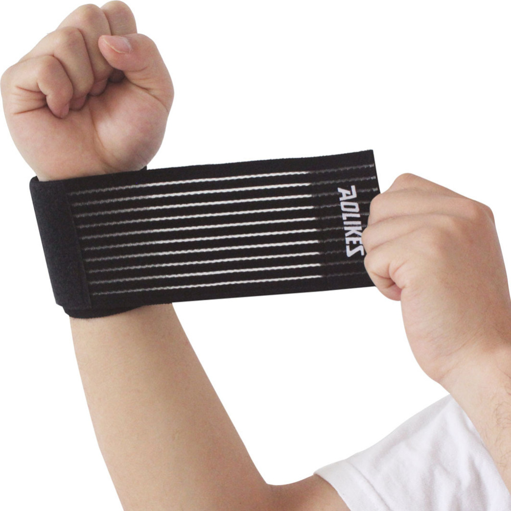 Sports Wrist Bandage Basketball Wrist Brace Wrap Fitness Tennis Band Sport Elastic GYM Sports Accessory 42.5 * 7.5 cm