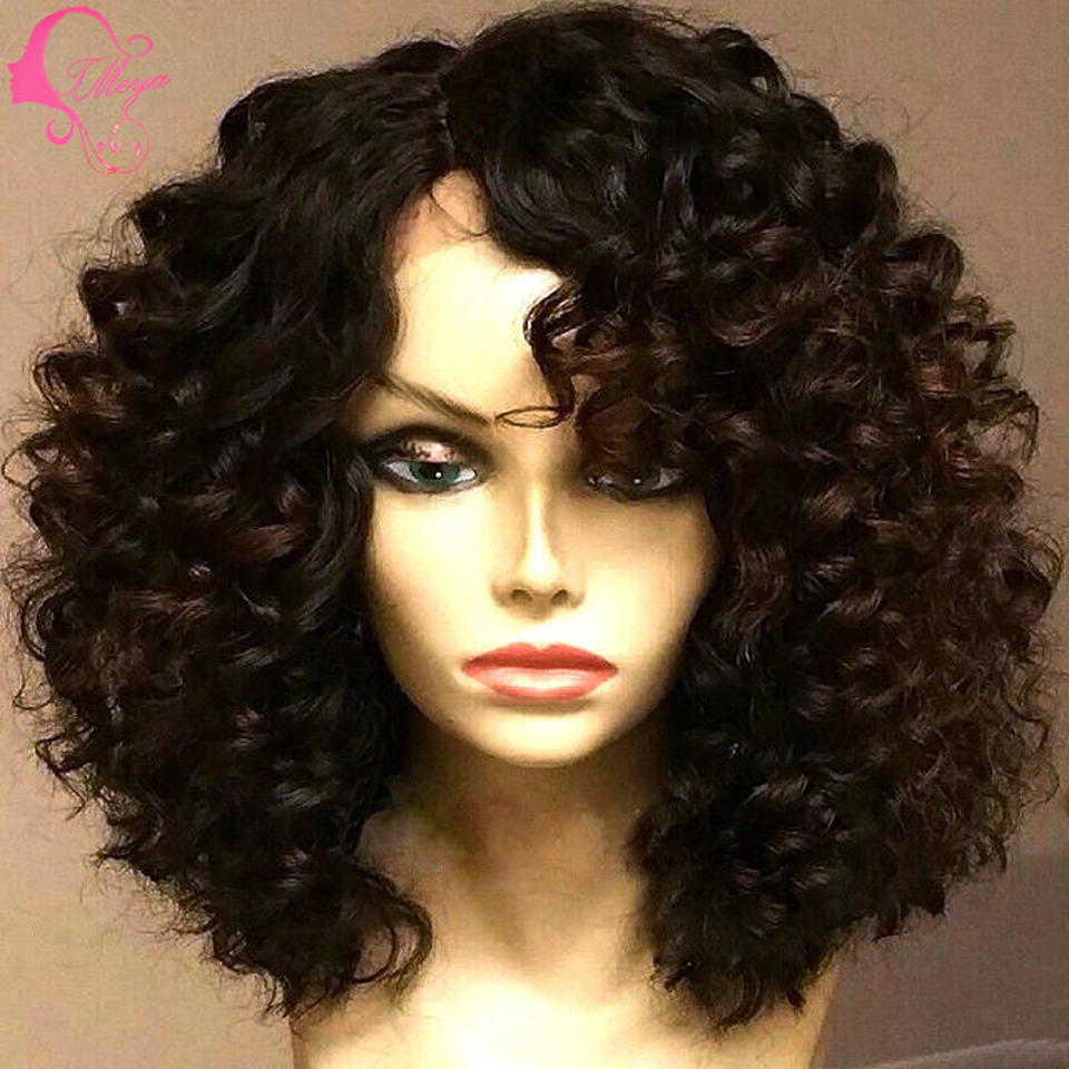 short natural hair lace front wigs for black women picture