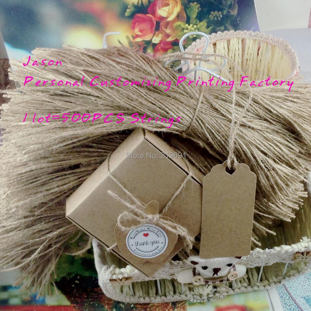 Natural hemp string stock Cardboard Blank price Hang tag Hemp DIY kraft paper Favor Gift Tags strings