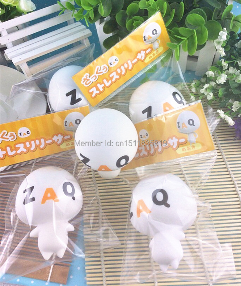 20~27Day Delivery 1pc 8cm Funny ZAQ Squishy Retail original package 2015 New Rare Squishies Toys ...
