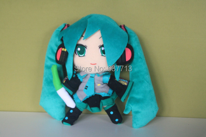 Плюшевая игрушка Hatsune Miku 1 24 /9,5 Hatsune Miku Hatsune Miku miku hatsune figma 014 pvc figure action toys collection doll for kids girls gifts with color box 13cm
