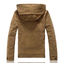 2015 New Fashion Khaki Cotton Jacket Parka With Hood Warm Winter Coat Mens Epaulet Jackets Coats
