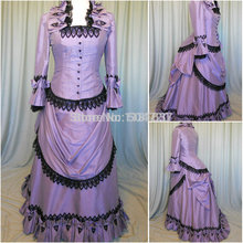 Freeshipping!R-347 19 century Vintage costume Dresses Victorian Gothic Lolita/Civil War Ball Halloween dresses All size