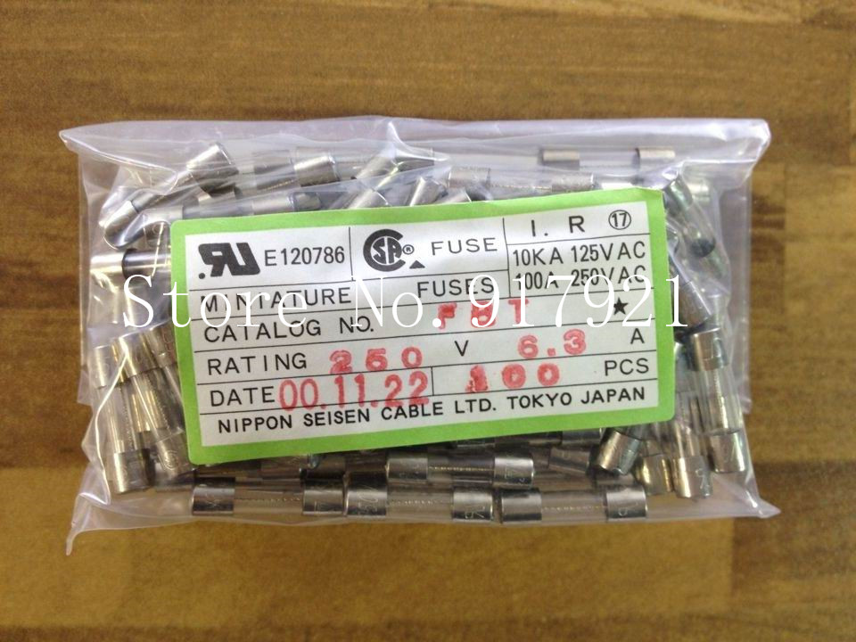 [ZOB] Imported Japanese JET FBT 5X20 6.3A250V FUSE fuse fuse original explosion-proof glass  --200pcs/lot<br>