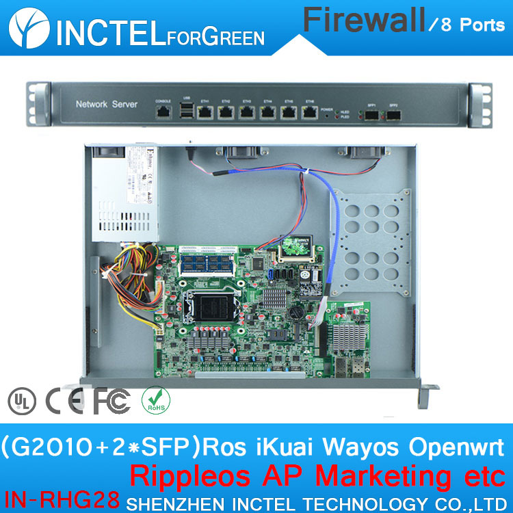 Internet router ROS 8 Gigabit flow control firewall board with G2010 CPU Intel 1000M 6 82583V 2 Gigabit 82580DB fiber H67<br><br>Aliexpress