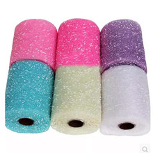 Organza Glitter Dot Tulle Spool Roll For Decoration