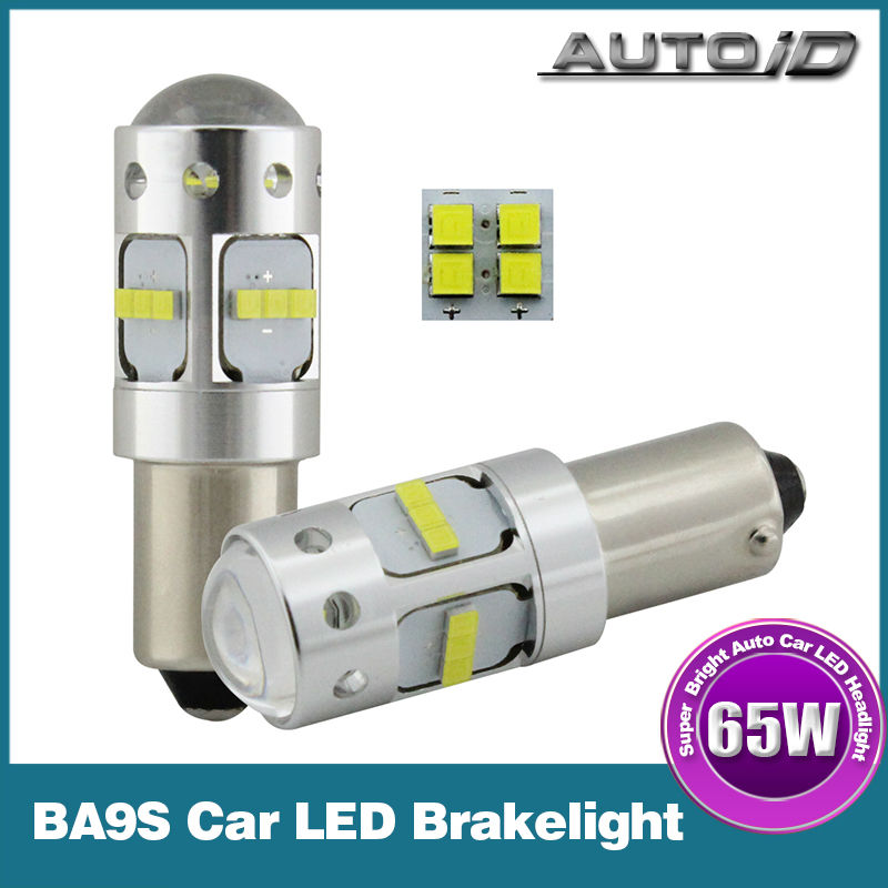 2 PCS 65W BA9S CREE LED Bulb Brake Light Turn Signal Lamp 12V 24V DC 6000K White