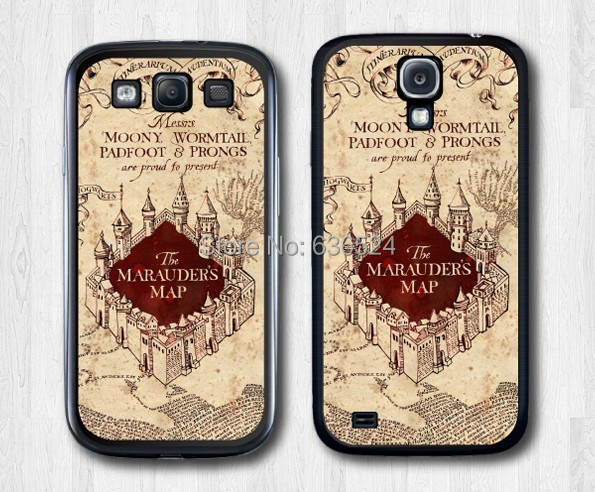 News Harry Potter Marauders Map Hard Cover Case Skin Samsung Galaxy S4 S3 S5 S6 - san shao ye store