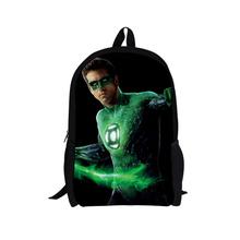 2015 New Arrival Children Cartoon Backpacks Green Lantern The Flash Printing Backpack for Boys Hero Bagpack Kanken School Bags(China (Mainland))