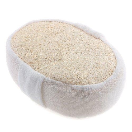Boutique Bath Brush Body Towel Wipe Natural Loofah Ellipse Beige(China (Mainland))