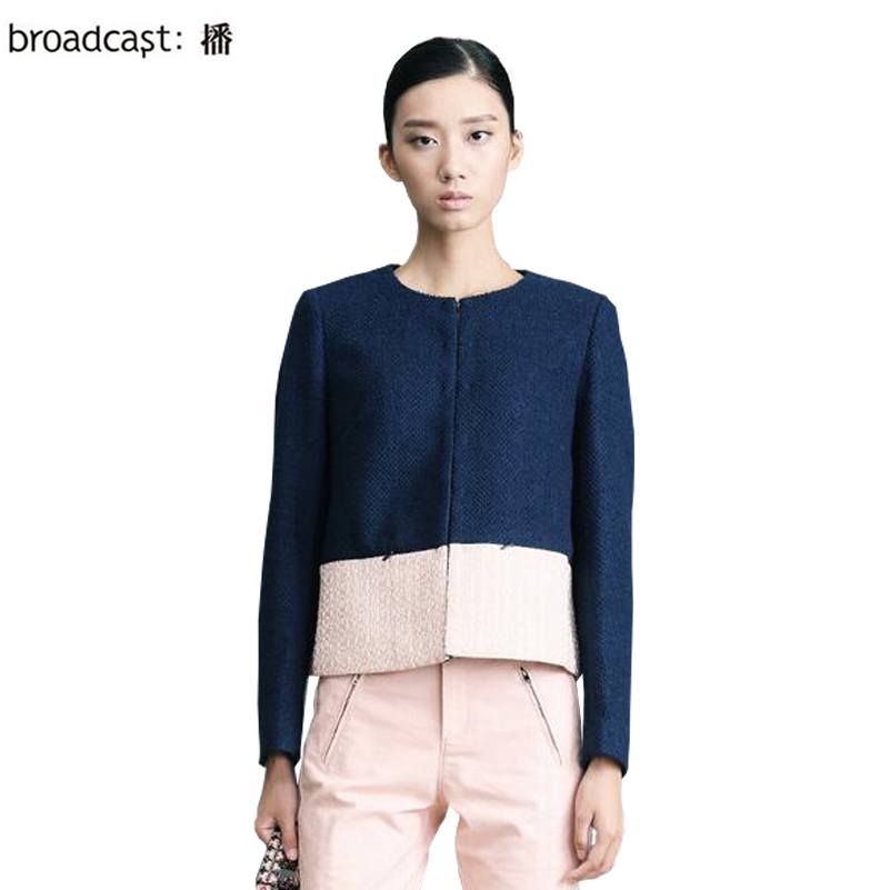 Broadcast mantianxing florid 2014 formal ol wool short jacket female coat BDH1WA0395