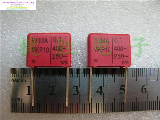 2015 Rushed New Red Supercapacitor Bolsa 20PCS Wima Mkp10 400v 0.1uf 104 P:15mm For Audio Coupling Capacitors Free Shipping(China (Mainland))