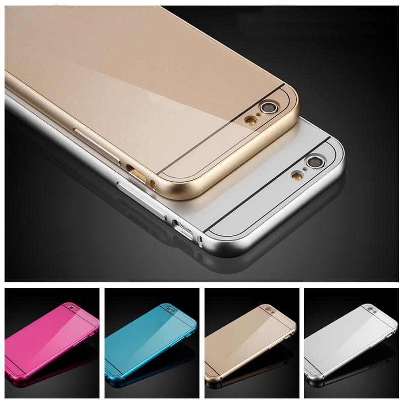 Metal Aluminum + Acrylic Fashion Design Hard Protective Case Cover For apple iphone 4 4S / 5 5S / 5C / 6(China (Mainland))
