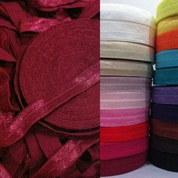 wine #44,15MM,Glitter FoldOver Elastic headwrap For Stretchy Baby Headband/FOE,300yards/lot,Free shipping!