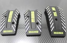 3 Pcs Momo Aluminum Non Slip Universal Manual Transmission Car Pedals Pad Auto Vehicle Accelerator Pedal Black Clutch Cover(China (Mainland))