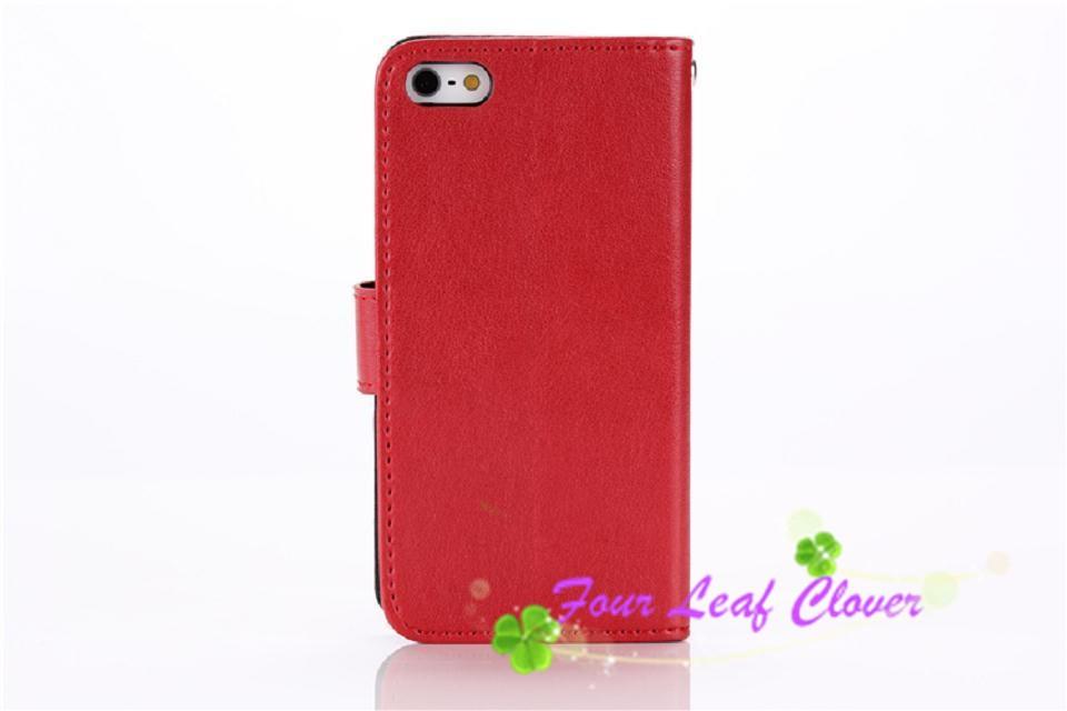 Flip stand pu leather capa couro para celular de for iphone 6 6s &6 6s plus fundas capinha black cover housing