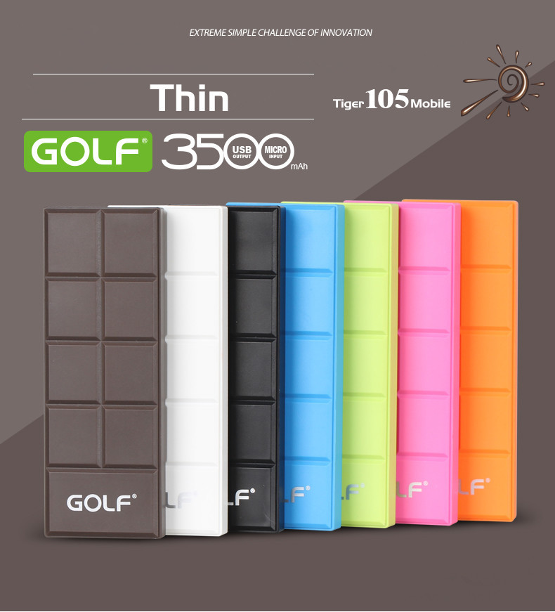 GOLF GF105 3500mAh mobile power supply for mobile phone, tablet computers, digital cameras and other electronic products(China (Mainland))