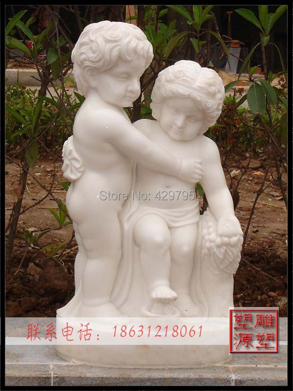 white marble western character statue home decoration European manmade baby angle sculpture factorysupply freeshipping - chunjing cao's store