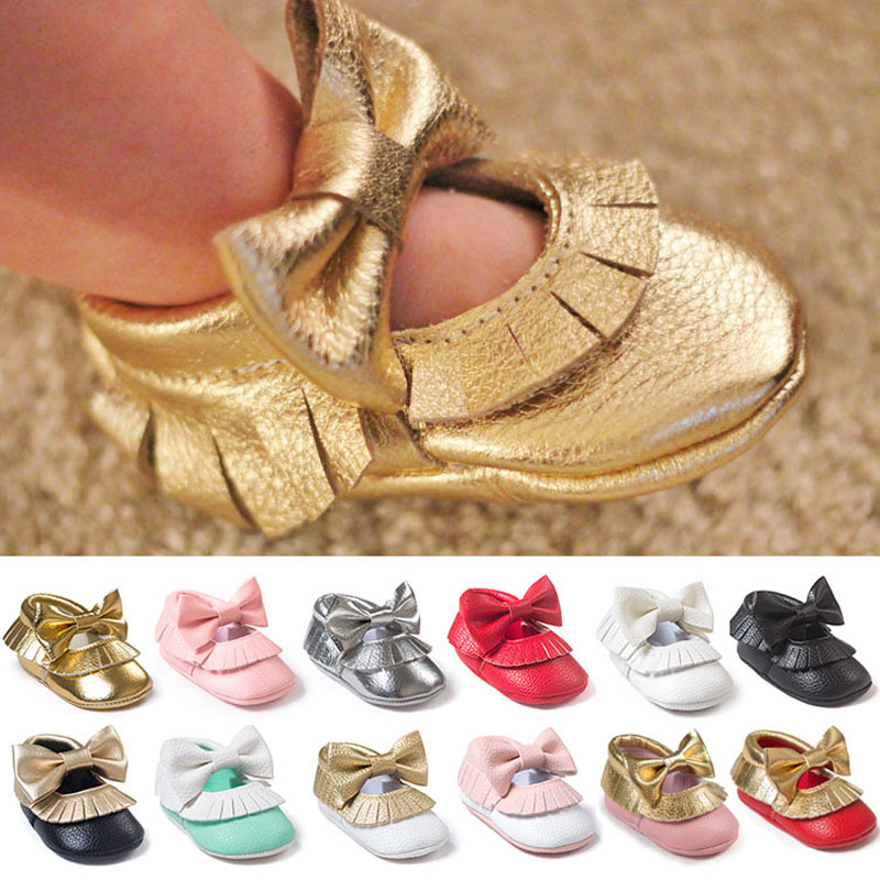 New Tassel Bowknot Baby Shoes Handmade Baby Girls First Walkers Fashion Shoes baby moccasins(China (Mainland))