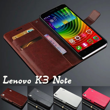 Lenovo K3 note wallet case Luxury Retro Classic Stand Leather Case For Lenovo K3 note Mobile Phone Bag With Card Slot Flip Cover