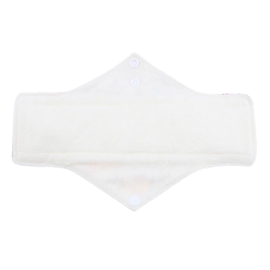 Washable Cotton Sanitary Napkin Towel Menstrual Panty Pads Random Color for Women in Menstrual Period or Postpartum