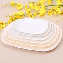 Melamine Dishes Rectangle Plates Dinner Utensils Kitchen Accessories Restaurant Food Holder Buffet Smorgasbord 6''/8''/10''(China (Mainland))