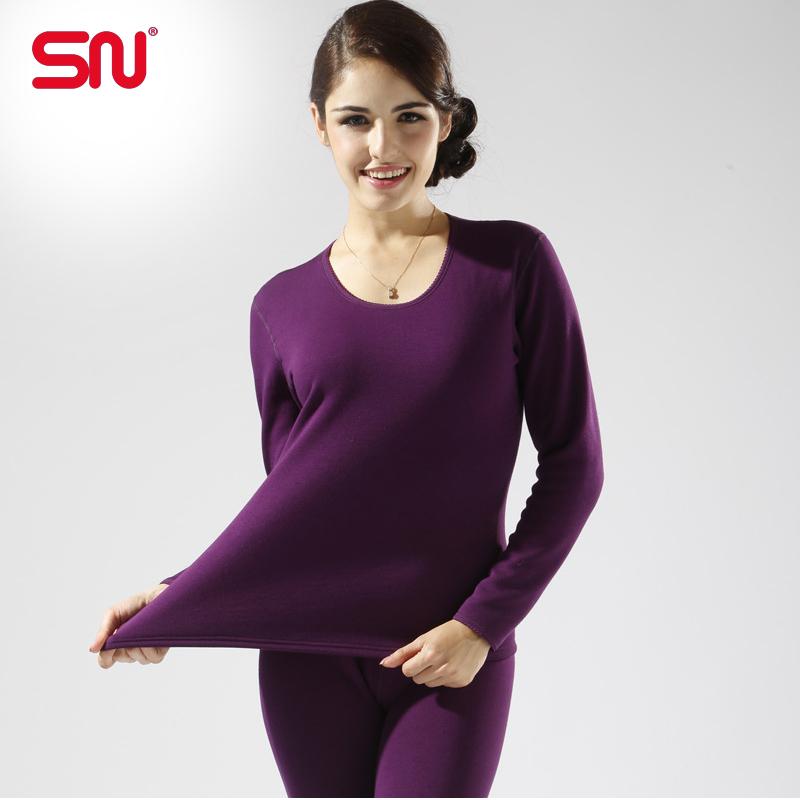 Hot sale SN brand underwear women Winter thermal underwear cotton long johns plus size women clothing YCYP69
