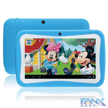Free Shiping 7 Kids Tablet PC With Children Educational Apps Capacitive Screen Dual Camera WiFi Soft