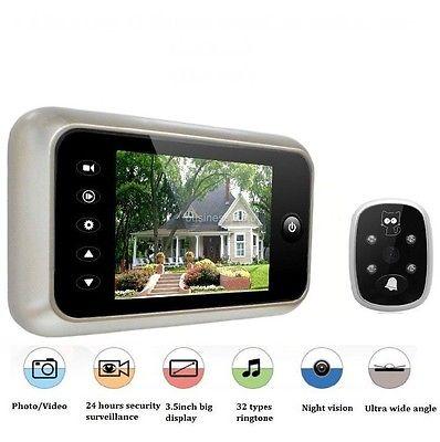 "3.5"" LCD Digital Peephole Viewer Wide Angle Door Eye Doorbell Video Color IR Camera(China (Mainland))"