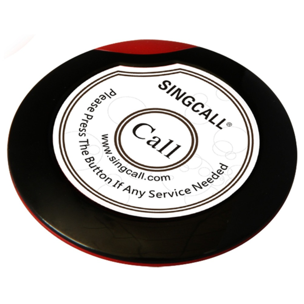 SINGCALL Wireless service calling button,ultrathin single call button for coffee or tea house,restaurant(China (Mainland))