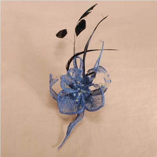 FirstTime Mini Feather Yarn Flower Headpiece Fascinator Brooch Hair Clip(China (Mainland))