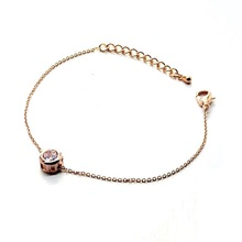 Gold plated zircon bracelets for women simple thin bracelet fashion jewelry wholesale female gift(China (Mainland))