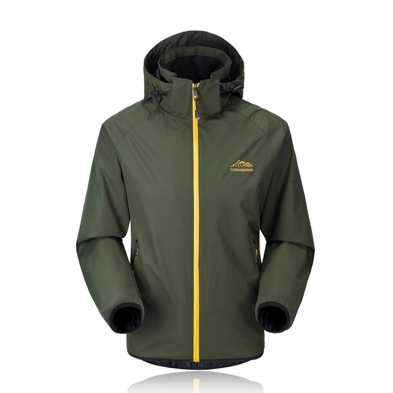 New Fashion Spring Jacket Men Waterproof Military Mountain Thin Jackets Casual Brand Overcoats Hooded Windbreaker Men/Male CF030(China (Mainland))