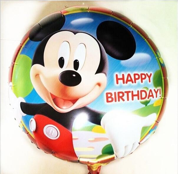 Hot! Aluminum helium balloons party decoration / cartoon series Mickey Minnie Happy Birthday Balloons Wholesale(China (Mainland))