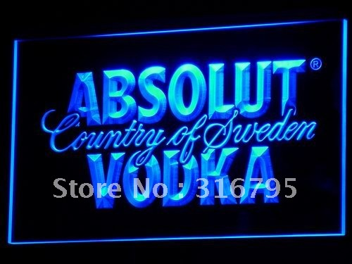 a025 Absolut Vodka Country of Sweden Beer LED Neon Bar Sign(China (Mainland))