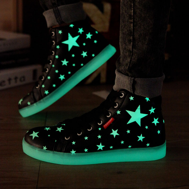 2015 New Specials hot Selling emitting luminous casual shoes men women couple LED lights shoe fashion sneakers Fluorescence 0978(China (Mainland))
