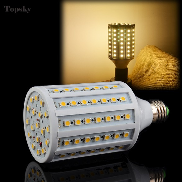 Lampada Led E27 102 Led Lamp SMD5050 Corn Light Warm White Led Bulb E27 200V-230V/15W ZDD(China (Mainland))