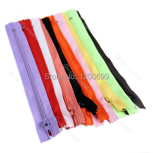 F98 2015 newest hot -selling 10 pcs New Color Nylon Coil Zippers Tailor Sewer Craft 9 Inch free shipping(China (Mainland))