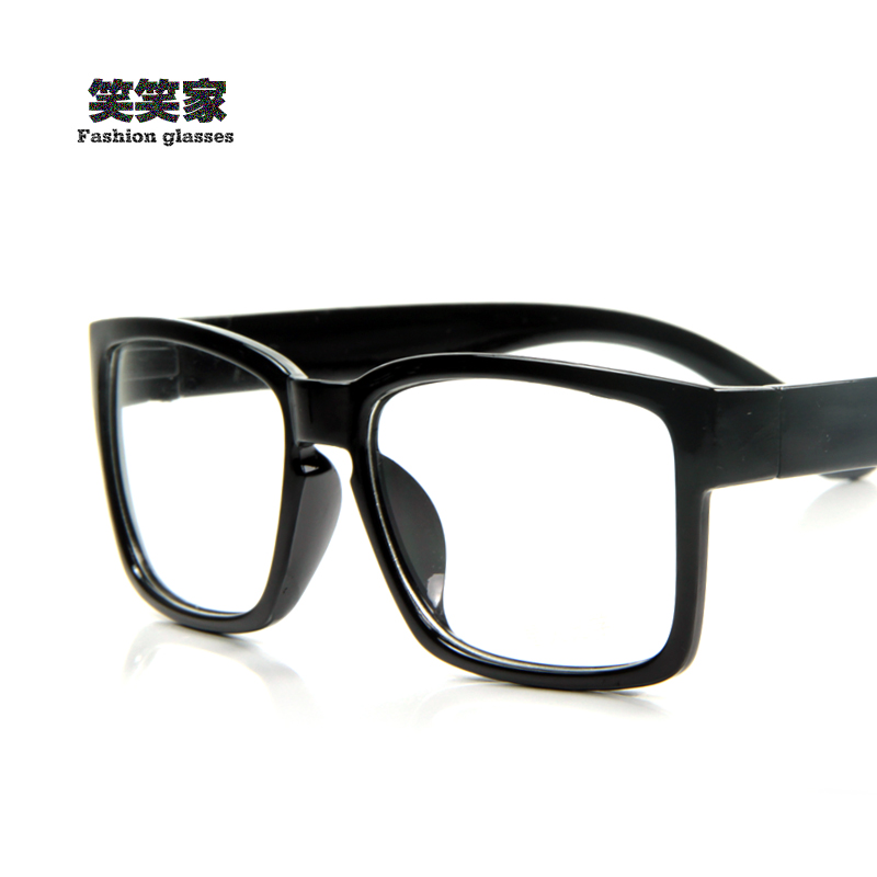 Vintage Black Frame Glasses : Vintage fashion glasses frame black glasses big box ...